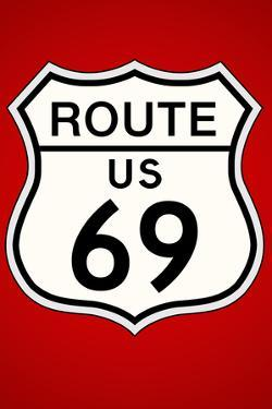 Route 69 Highway Sign Poster Print