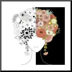 Woman Floral Silhouette by Rouz