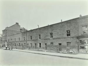 Row of Derelict Houses, Hackney, London, August 1937