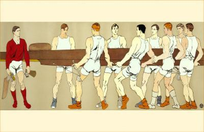 Rowing Crew Carrying Scull
