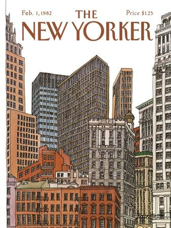 The New Yorker Cover - February 1, 1982