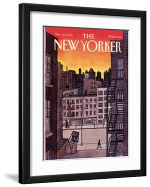 The New Yorker Cover - November 25, 1985 by Roxie Munro