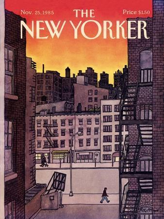 The New Yorker Cover - November 25, 1985