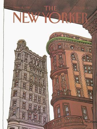 The New Yorker Cover - November 9, 1981