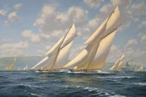 America's Cup 1901- Columbia v Shamrock II by Roy Cross