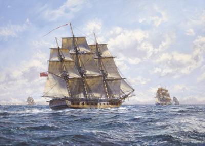 Before Trafalgar - R.N. Frigates Watch Off Cadiz