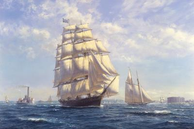 'Challenge' leaving New York in the 1850s by Roy Cross