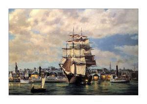 Ocean Monarch, Leaving New York by Roy Cross