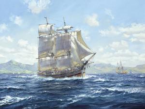 """R.N. Survey Brig """"Lady Nelson"""" by Roy Cross"""