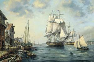 Trader 'Eliza' in Old Marblehead by Roy Cross