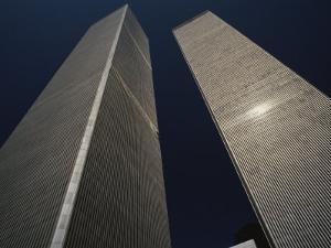 A View of the Twin Towers of the World Trade Center by Roy Gumpel