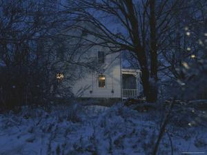 A Winter Evening View of the Quaker Hill House by Roy Gumpel