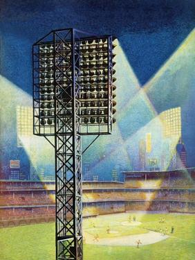 """Baseball Stadium at Night,"" June 28, 1941 by Roy Hilton"