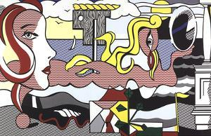 Figures in Landscape by Roy Lichtenstein