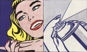 Girl and Spray Can by Roy Lichtenstein