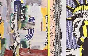 Painting with Statue of Liberty by Roy Lichtenstein