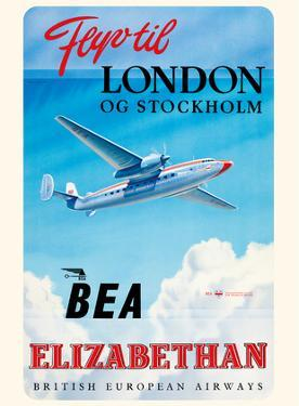 Fly To London And Stockholm - British European Airways (BEA) - Elizabethan Class by Roy Nockolds