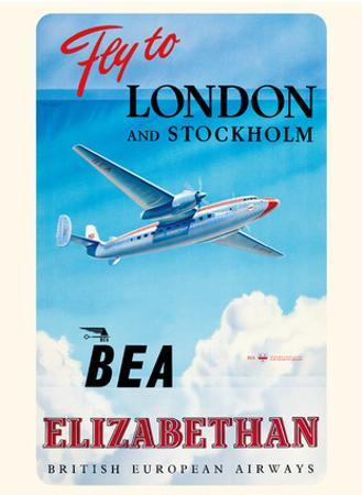 Fly To London And Stockholm - British European Airways (BEA) - Elizabethan Class by Roy Nookolds