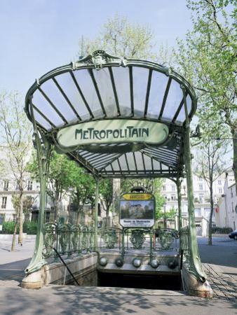 Abbesses Metro Station, Paris, France by Roy Rainford