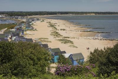 Beach Huts and Sand Dunes on Mudeford Spit at Hengistbury Head by Roy Rainford