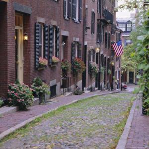 Beacon Hill, Acorn Street, Boston, Massachusetts, New England, USA by Roy Rainford