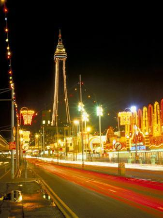 Blackpool Tower and Illuminations, Blackpool, Lancashire, England, United Kingdom by Roy Rainford