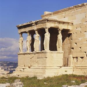 Caryatids, Erechteion, Acropolis, Athens, Greece by Roy Rainford