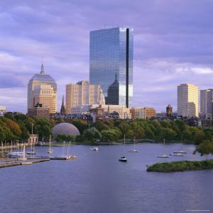 City Skyline at Sunset, Boston, Massachusetts, New England, USA by Roy Rainford
