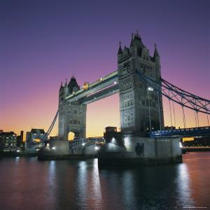 Evening, Tower Bridge and River Thames, London by Roy Rainford