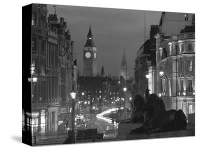 Evening View from Trafalgar Square Down Whitehall with Big Ben in the Background, London, England by Roy Rainford