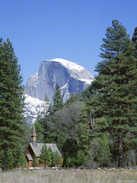 Half Dome Mountain Peak and Chapel, Unesco World Heritage Site, California by Roy Rainford