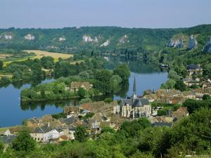 Les Andeleys (Les Andelys) and the River Seine, Haute Normandie (Normandy), France, Europe by Roy Rainford