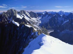 Mont Blanc Mountain Range, Alps, Haute Savoie, France by Roy Rainford