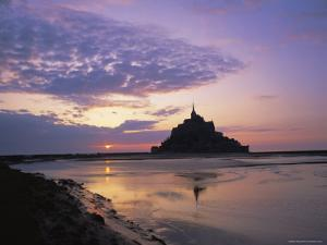 Mont-Saint-Michel at Sunset, Unesco World Heritage Site, La Manche Region, Basse Normandie, France by Roy Rainford