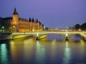 Palais De Justice and the River Seine in the Evening, Paris, France, Europe by Roy Rainford
