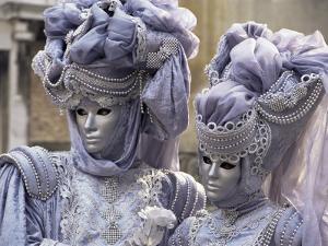 People in Carnival Costume, Venice, Veneto, Italy by Roy Rainford