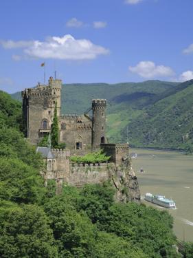 Rheinstein Castle Overlooking the River Rhine, Rhineland, Germany, Europe by Roy Rainford