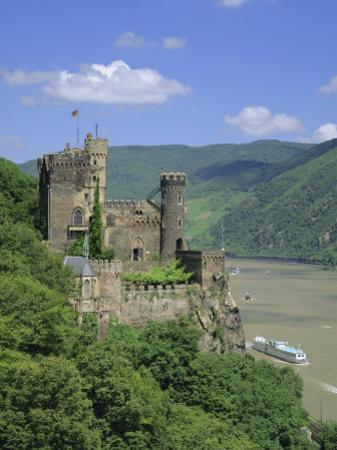 Rheinstein Castle Overlooking the River Rhine, Rhineland, Germany, Europe by Roy Rainford
