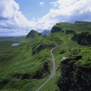 Rural Road in the Beinn Edra Range, Near Staffin, Isle of Skye, Scotland, United Kingdom, Europe by Roy Rainford