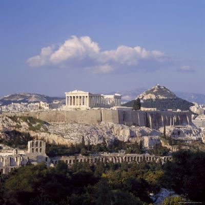 Skyline of the Acropolis with Lykabettos Hill in the Background, Athens, Greece by Roy Rainford