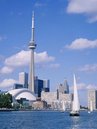 The C.N.Tower and the Toronto Skyline, Ontario, Canada