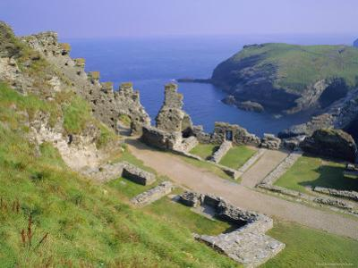 Tintagel Castle, Associated with the Legend of King Arthur, Tintagel, Cornwall, England, UK by Roy Rainford