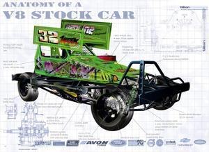 Anatomy V8 Stockcar by Roy Scorer