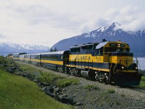 Alaskan Train, Anchorage by Roy Toft