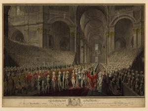 Royal Procession in St Paul's Cathedral on St George's Day, 1789