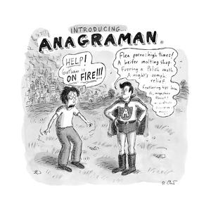 Anagraman - New Yorker Cartoon by Roz Chast