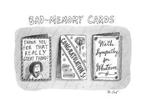 Bad Memory Cards - New Yorker Cartoon by Roz Chast