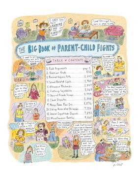 Big Book of Parent-Child Fights' - New Yorker Cartoon by Roz Chast