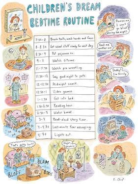Children's Dream Bedtime Routine - New Yorker Cartoon by Roz Chast