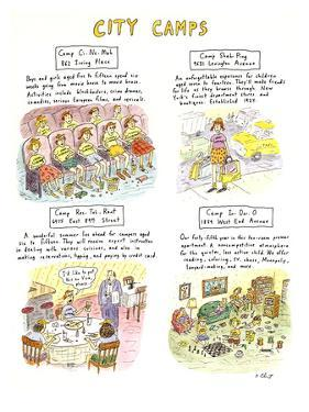 CITY CAMPS - New Yorker Cartoon by Roz Chast